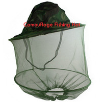 Wholesale Fishing Hat Net Mask Camouflage Fly Insect Mosquito Bee Ship From USA K00813