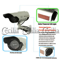 Wholesale Realistic Looking Fake Dummy Solar Powered Security CCD Camera Red Blinking LED fro indoor or outdoor of your house office shop or office