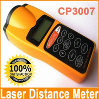 Wholesale New CP3007 Ultrasonic Infrared Distance Meter Laser Distance Tester