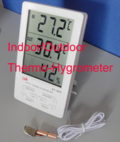 Wholesale Digital Indoor Outdoor LCD Thermometer Hygrometer C F KT