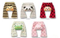 baby capri leggings - Children leggings PP pants baby stereoscopic printing animal design PP pants capri pants