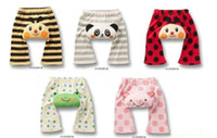 unisex baby capri pants - Children leggings PP pants baby stereoscopic printing animal design PP pants capri pants