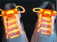 Wholesale 20pairs LED flashing shoelace Light up shoelaces shoe laces Colorful fashion led shoelace zcwer