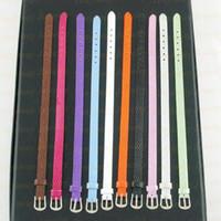 Cord & Wire belt cord - Belt style leather bracelets mixed color charm bracelet