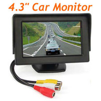 Wholesale 4 quot TFT LCD Screen DVD VCR CCTV Car Reverse RearView Camera Monitor