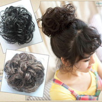 Black hair bun piece - women and girls hair buns elastic hair ring lhair pieces hair extensions piece colors drop shipping