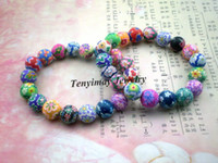 Wholesale Fashion polymer clay bracelets Bohemian beaded bracelets Kid s gift