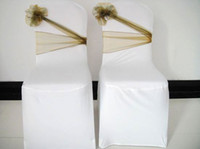 Wholesale Quality grantee directly from factory wedding organza sash