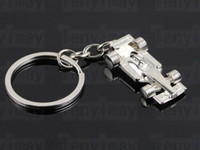 Wholesale Promotional F1 racing cars keyring carabiner keychain men s rings