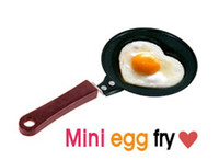 Wholesale Free ship Pieces Mini Heart Shaped Egg Cake Chocalate Fry Frying Cook Pan Non Stick Familiy Use