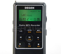 mini speaker rechargeable - DEGEN GB Digital Voice Recorder Radio Receiver FM Stereo MW SW AM MP3 Player DSP Mini Family Radio D2975A