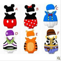 Wholesale Disney baby rompers with hats Baby romper bodysuits baby costume chothes baby jumbsuits bodysuit