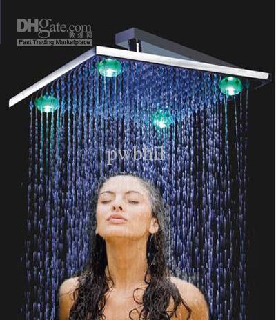 12 big rain shower led top shower brass chromed ledl shower online with 12241piece on store dhgatecom