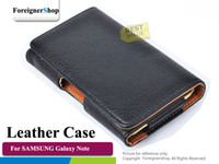 Wholesale For Samsung Galaxy Note I9220 N7000 Leather Case Pouch Cover Skin Belt Clip Holster Flip