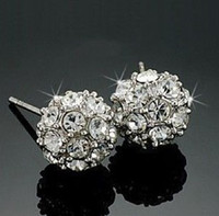Wholesale Beautiful ball Swarovski Crystal stud earrings
