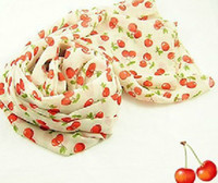 Wholesale 2012 New arrival Cherry shawl scarf D