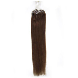 Wholesale 20 inch loop hair extension remy hair extension dark brown g strand strands