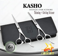 Wholesale 6 INCH KASHO JAPAN Hair Scissors Salon professional Barber Scissors Shear Cutting Thinning