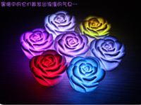 Wholesale Led rose flower light Led illumination Roses love lamp Led wishing lights Flower light LK2039