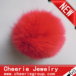 Wholesale decoration rabbit fur balls cm rabbit fur ball rabbit Pom Pom ball various colors set