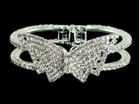 Wholesale Cuff Bracelets Rhinestone Butterfly Bangle Bracelet Assorted Designs