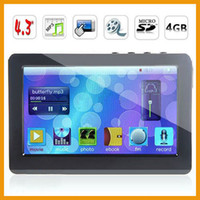 Wholesale Sony T13 inch Touch Screen GB GB MP4 Player P Movie Built in Loud Speaker TV out FM Ebook