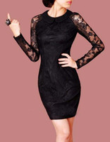 Women' s Dresses E21 Elegant Full Lace Small Lapel Slim ...