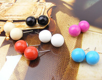 Wholesale Fashion Jewelry Sweet Candy Colors Colorful Fashion Ear Hammer Earrings Clips
