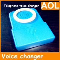 Wholesale 2012 NEW BRAND Televoicer Portable telephone voice changer Portable Handheld changer with battery