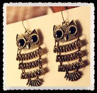 Wholesale PR Nice HOT Retro Cinnamon Color Owl Fashion Earrings Cheap Jewelry