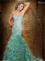 green wedding dress - 2013 Cheap New Sexy Sweetheart Prom Dresses Beadings Organza Mint Green Wedding Dresses HSE01
