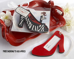 Free shipping to AUS Wedding favours Fashionista High Heel Luggage Tag 35pcs lot with real photo