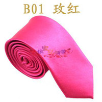 Compra Lazos de color rosa-Corbata de seda estrecha NeckTie ROSA CALIENTE / FUCHSIA fina corbata de los hombres lazo de los hombres corbatas