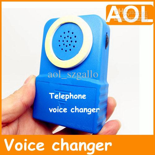 new brand televoicer telephone voice changer man change to woman or child blue hand held. Black Bedroom Furniture Sets. Home Design Ideas