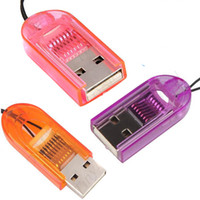 Wholesale Smallest MicroSD TransFlash T Flash TF USB2 Memory Card Reader