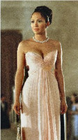 maid in manhattan - Custom Made New Evening Dress A Line Long Bridesmaid Gown Maid In Manhattan Dress Chiffon Sweetheart Sleeveless Prom Dress