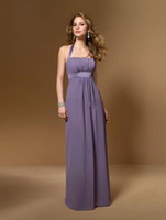 Cheap Custom Made 2014 New Elegant Bridesmaid Dress Halter Neckline Sleeveless Chiffon Floor Length Convertible Dresses