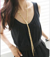 Wholesale 2012 most of the best selling wild multi layer long necklaces sweater chain long section of the
