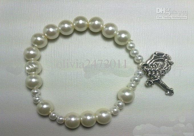 Bracelet Design Ideas gorgeous bracelet and High Quality Pearl Be Rosary Bracelet Vine Silver Rose Cross Pendant Charms Jewelry Bead Bracelets Bangles