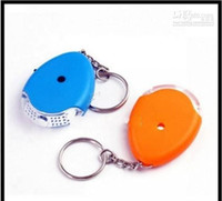 Wholesale Promotion LED Sound Control Lost Key Finder chain Keychain whistle free ship