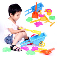 Wholesale Children Educational Sand Rake Plastic Handcart Toy piece a Set