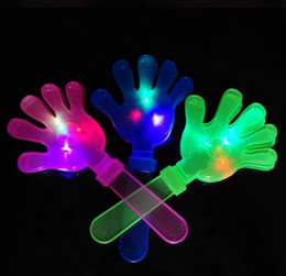 free shipping Noise Concert party bar supplies flash hand shot LED palm shot slap shot Baby Toys