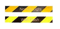 Wholesale REFLECTIVE YELLOW amp BLACK ADHESIVE WARNING MARKING TAPE vinyl reflective film MM M MM M