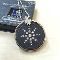 Unisex 2000-3000 ions Pendant Necklaces [MOQ=2 pcs][Free shipping] Quantum Scalar Energy Pendant Stainless Steel Black 2000~3000 ions Power