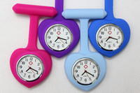 Wholesale 25pcs heart silicone Nurse Watch Pocket Watch Proffesional Medical rubber Watch