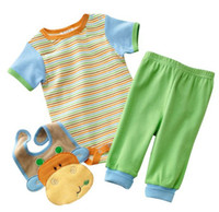 12-18 Months baby bib shirt - Baby bodysuits suits rompers bibs pants boys tracksuits tops trousers sets shirts tops outfits ZW691