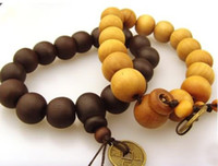 Wholesale Goodwood nyc good wood bracelet rosary beads bracelets Sandalwood with old coins prayer beads
