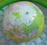 Wholesale Kids Inflate Inflatable World Globe Map Beach Ball Toy c
