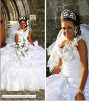 Wholesale Big Fat Special show stars bride Gypsy wedding dresses Organza Evening Quinceanera Dress Ball Gown