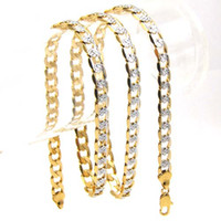 Wholesale brand mens boys new K YELLOW GOLD GEP CHAIN SOLID NECKLACE